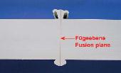 Fusion plane of a welded PP sample, wall thickness 100 mm, click to zoom